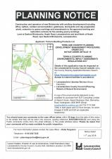 Planning Notice - Desford Brick Works